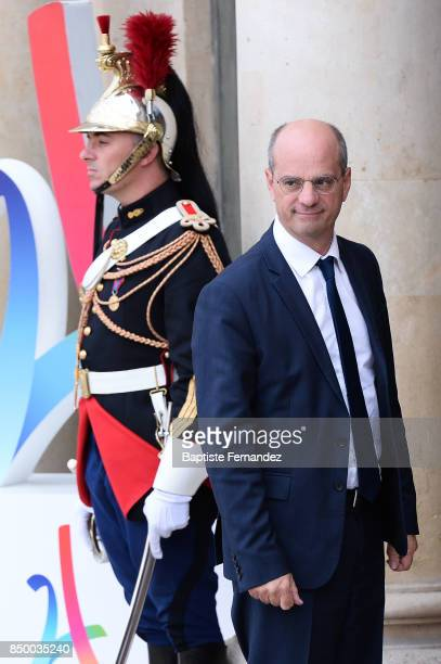 Jean Michel Blanquer French National Education Minister during the reception of the CIO by the French President at Elysee Palais on September 15 2017...