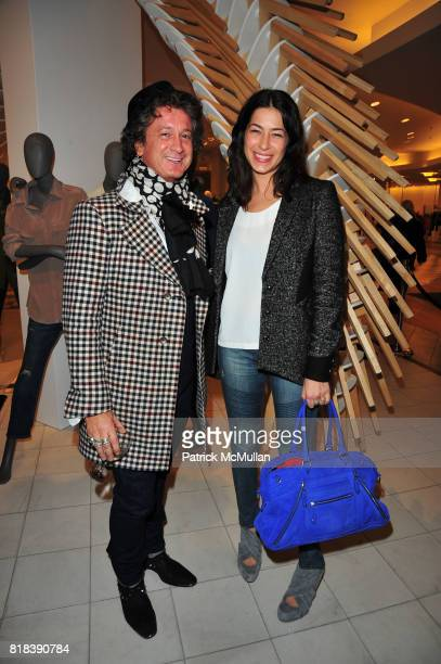 Jean Michel Cazalbat and Rebecca Minkoff attend EQUIPMENT Launch Party hosted by BECKA DIAMOND and SERGE AZRIA at Saks Fifth Avenue NYC on February...