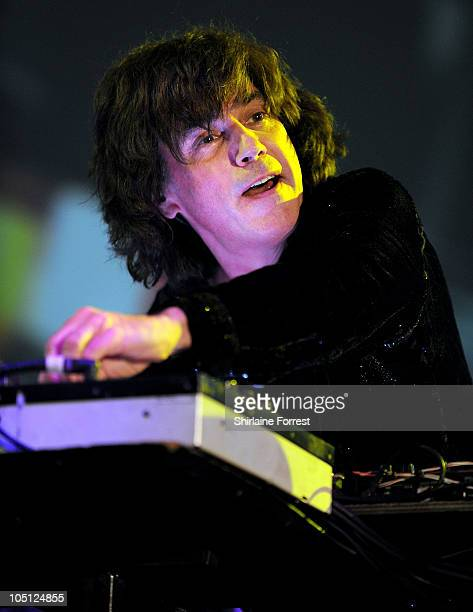 Jean Michel Jarre performs at MEN Arena on October 9 2010 in Manchester England
