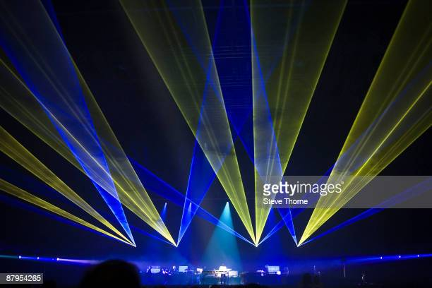 Jean Michel Jarre performs on stage at NIA Arena on May 24 2009 in Birmingham England