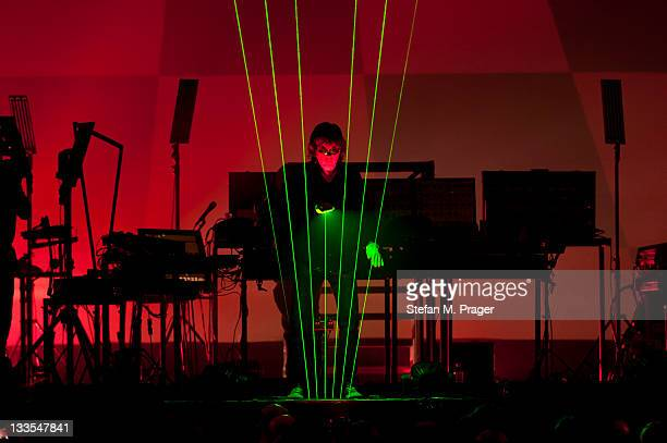 Jean Michel Jarre performs on stage at Olympiahalle on November 19 2011 in Munich Germany