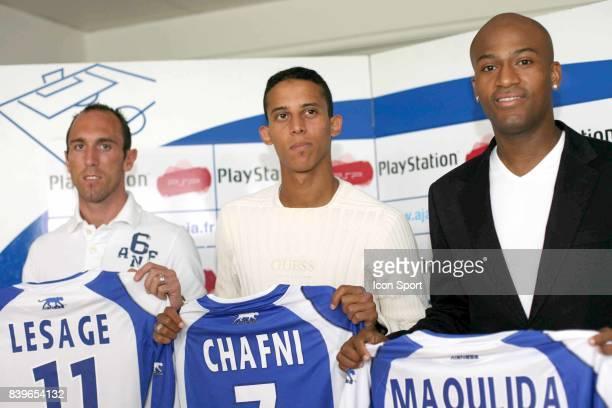 Jean Michel LESAGE Kamel CHAFNI Toifilou MAOULIDA conference de Presse AJ Auxerre Football Ligue 1 Saison 2007 / 2008