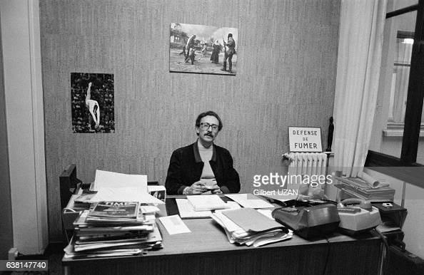 Jean Monteux directeur de l'agence photo Gamma en 1979 à Paris France