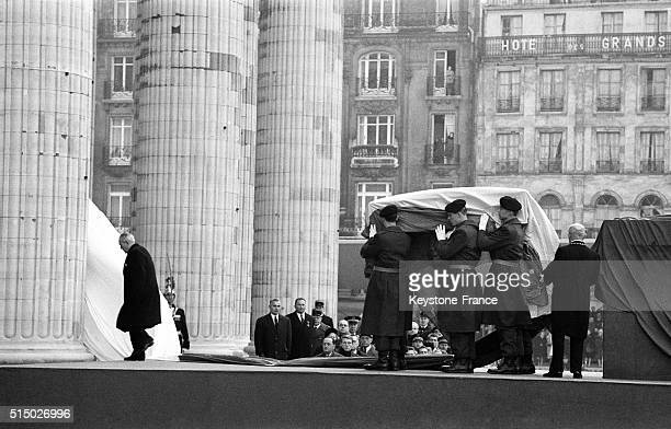 Jean Moulin's Ashes Enter In The Panthéon on December 19 1964 in Paris France