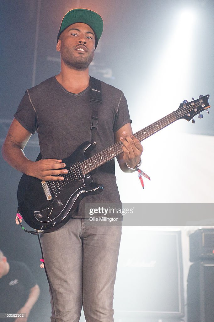 Jean Nascimento of letlive performs on stage at Download Festival at Donnington Park on June 13, 2014 in Donnington, United Kingdom.