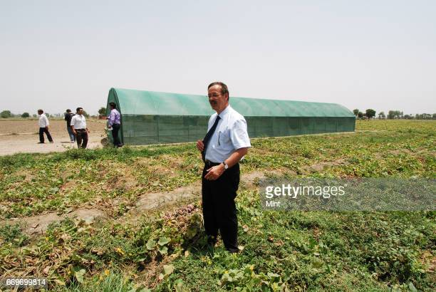 Jean Neol Bironnenau Managing Director Carrefour WCC India Pvt Ltd launches green house nursery in Palla village