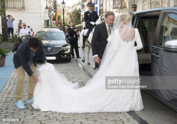 Jean of Luxemburgo are seen attending the wedding of MarieGabrielle of Nassau and Antonius Willms on September 2 2017 in Marbella Spain
