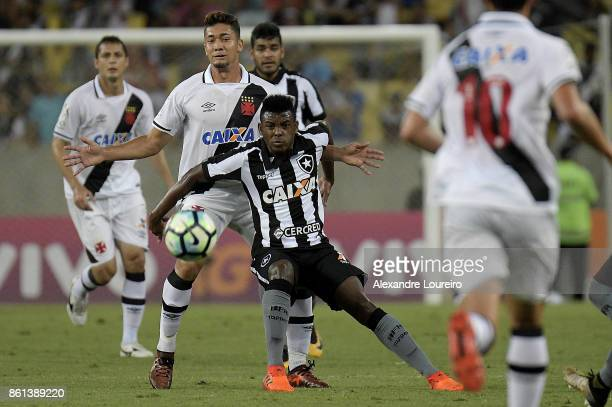 Jean of Vasco da Gama battles for the ball with Marcos Vinicius of Botafogo during the match between Vasco da Gama and Botafogo as part of...