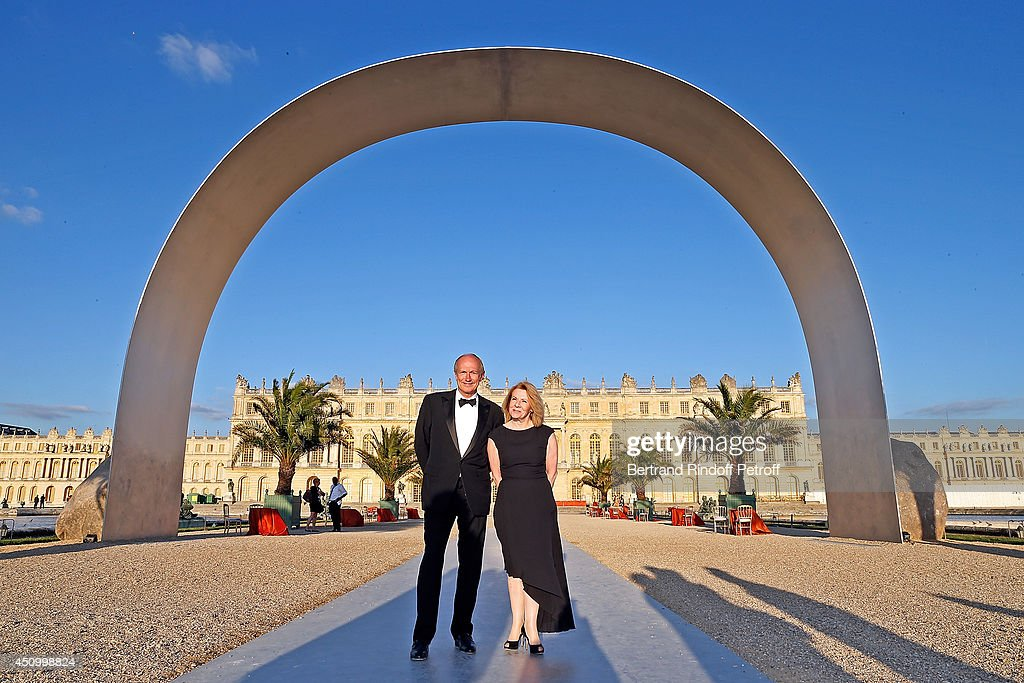 Jean Paul Agon, president of L'Oreal Group and Catherine Pegard, president of Versailles Castle attend the L'Oreal Gala Evening 2014 at Chateau de Versailles on June 20, 2014 in Versailles, France.