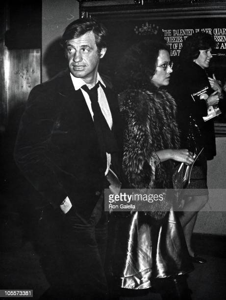 Jean Paul Belmondo And Girlfriend during 'Pippin' Performance in New York City New York United States