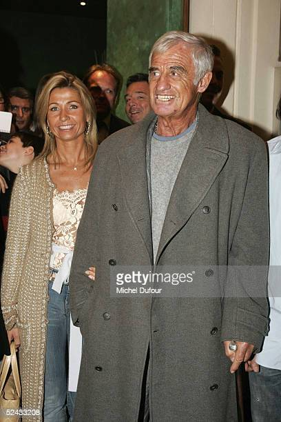 Jean Paul Belmondo and his wife Natty attend the launch party at the night club 'L'Etoile' to launch the new Paul Belmondo Racing Team 2005 car which...
