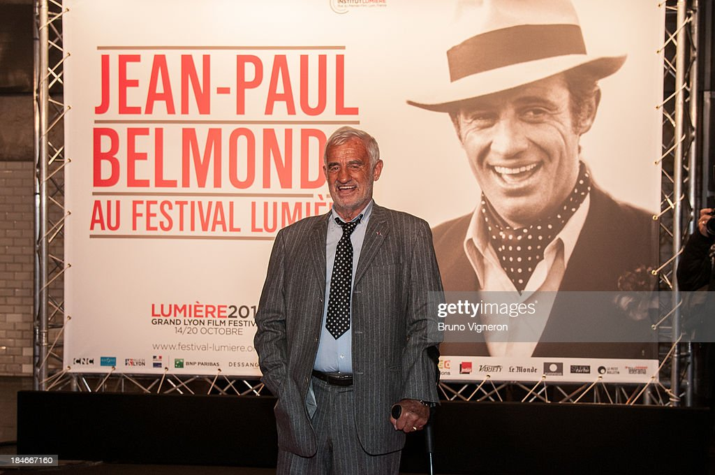 Jean Paul Belmondo attends the 5th Lyon Film Festival on October 14, 2013 in Lyon, France.