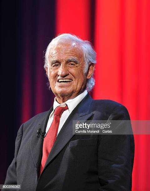 Jean Paul Belmondo receives the Golden Lion followed by 'Le Voleur' Premiere during the 73rd Venice Film Festival at Palazzo del Cinema on September...