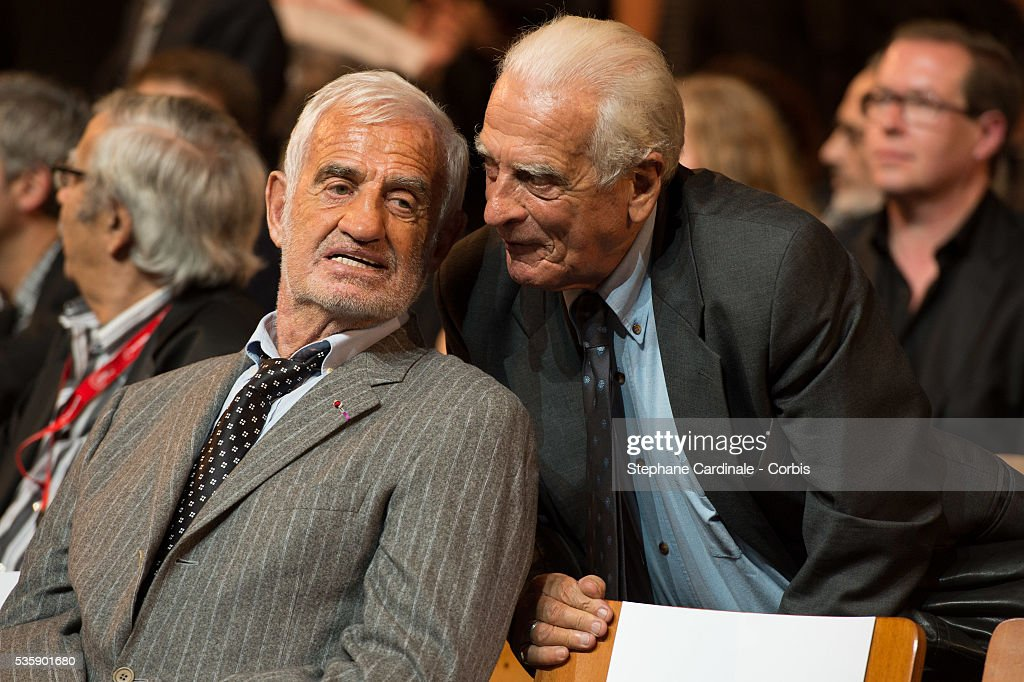 Jean Paul Belmondo with his brother Alain Belmondo attend the Tribute to Jean Paul Belmondo and Opening Ceremony of the Fifth Lumiere Film Festival, in Lyon.