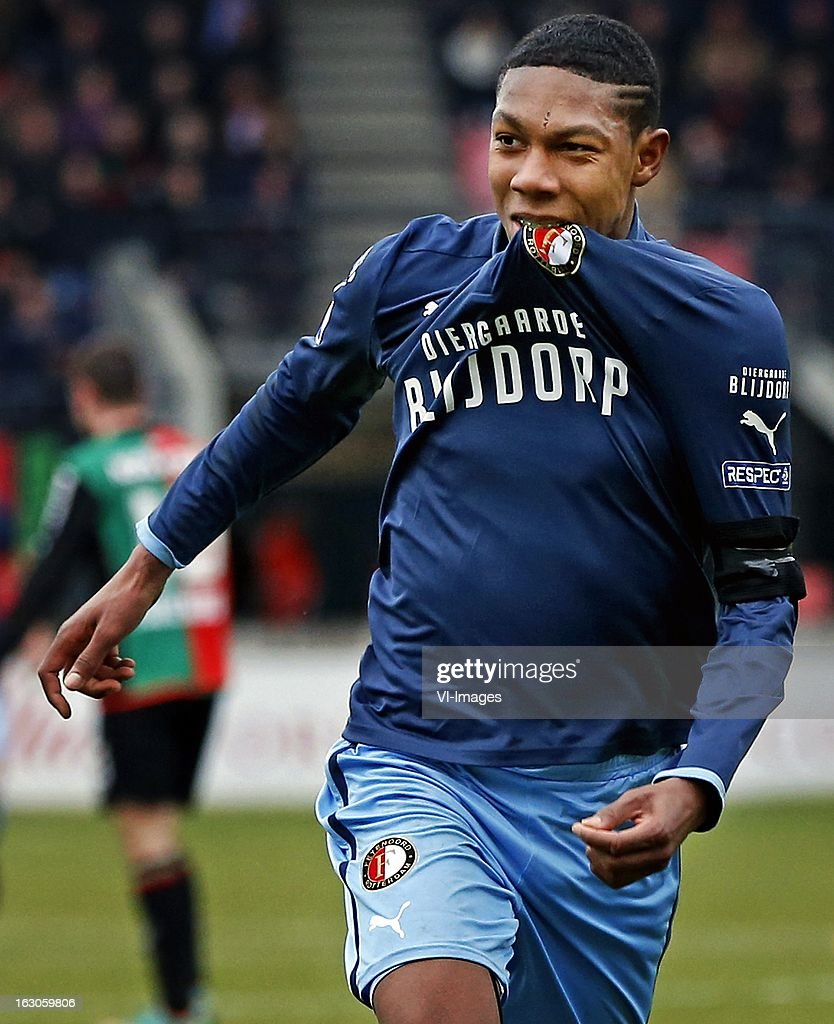 Jean Paul Boetius during the Dutch Eredivisie match between NEC Nijmegen and Feyenoord at the Goffert Stadium on march 03, 2013 in Nijmegen, The Netherlands