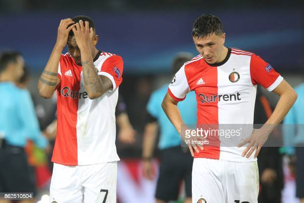 Jean Paul Boetius of Feyenoord Steven Berghuis of Feyenoord during the UEFA Champions League group F match between Feyenoord Rotterdam and Shakhtar...