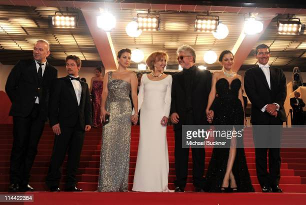 Jean Paul Gaultier actor Jan Cornet actresses Blanca Suarez and Marisa Paredesdirector Pedro Almodovar actress Elena Anaya and actor Antonio Banderas...