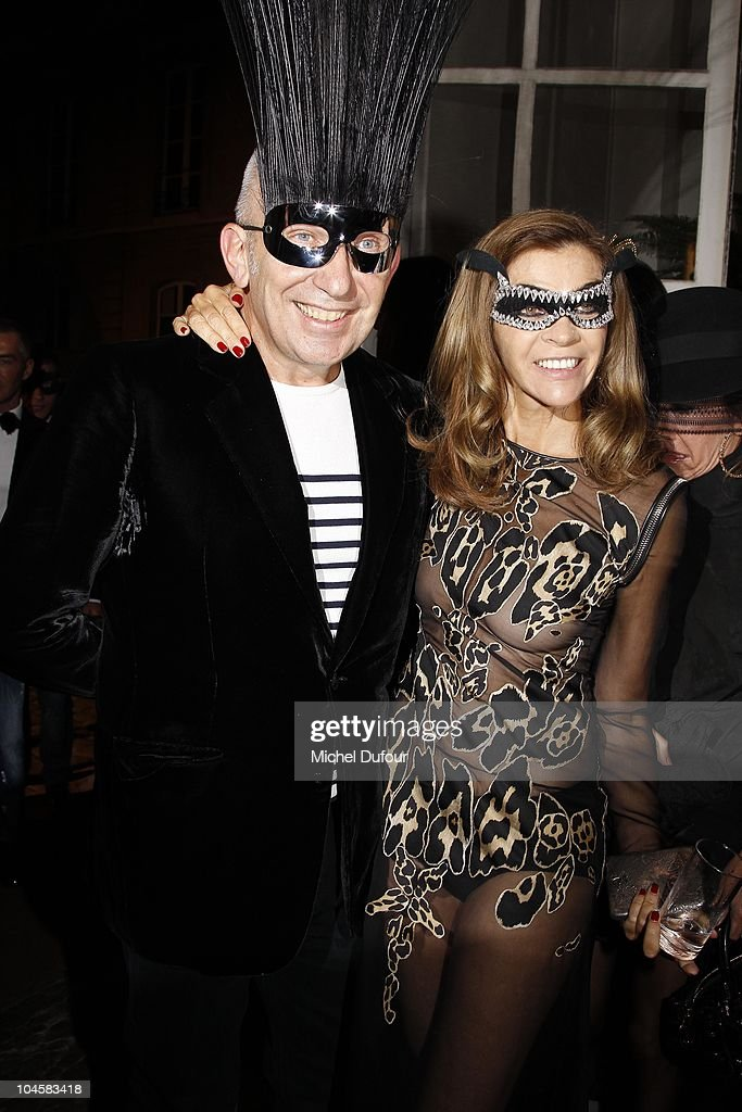 Jean Paul Gaultier and Carine Roitfeld attend Vogue 90th Anniversary Party as part of Ready to Wear Spring/Summer 2011 Paris Fashion Week at Hotel...