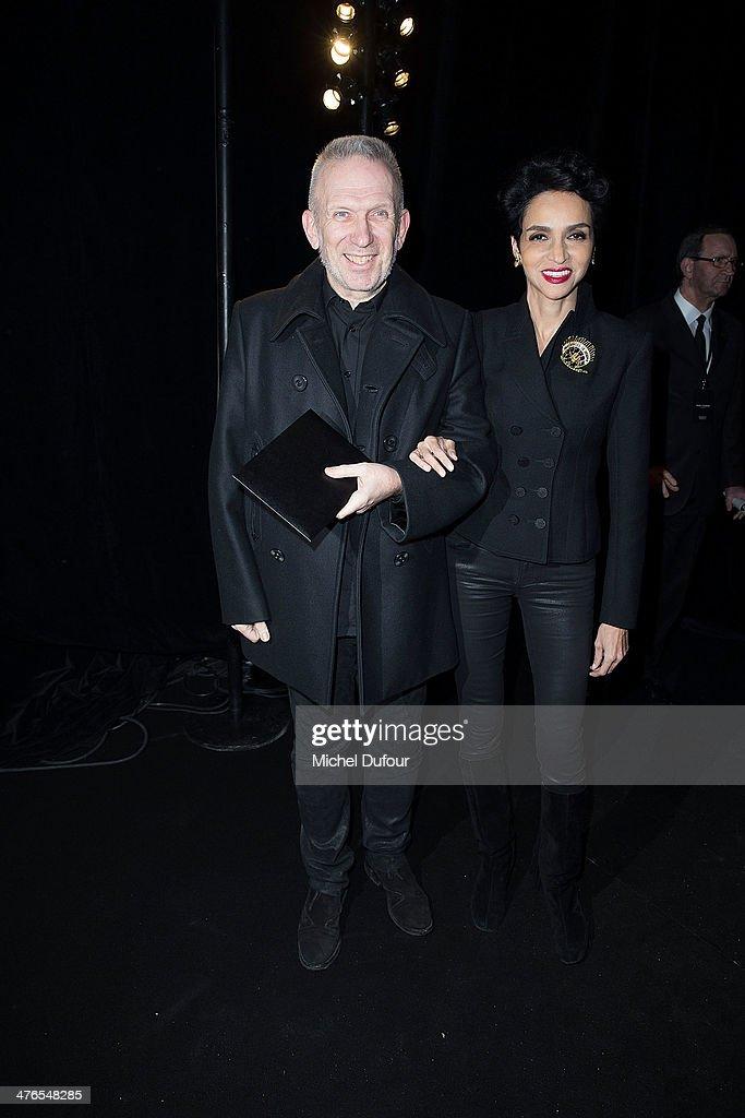 Saint Laurent : Front Row - Paris Fashion Week Womenswear Fall/Winter 2014-2015