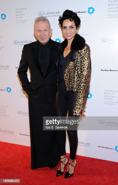 Jean Paul Gaultier and model Farida Khelfa attend the VIP reception and viewing for The Fashion World of Jean Paul Gaultier From the Sidewalk to the...