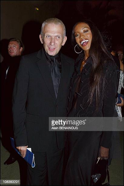Jean Paul Gaultier and Naomi Campbell in Versailles France on September 30 2002