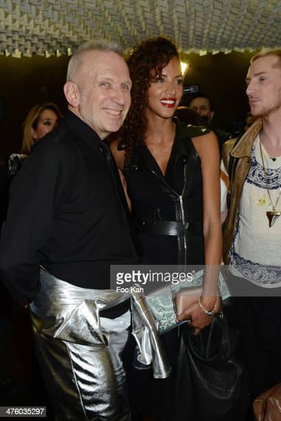 PARIS France MARCH 01 Jean Paul Gaultier and Noemie Lenoir attend the Jean Paul Gaultier Show as part of the Paris Fashion Week Womenswear...