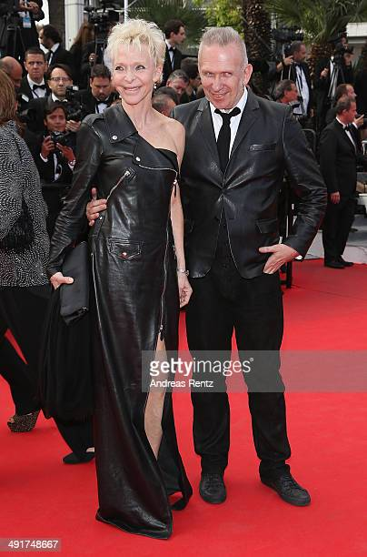 Jean Paul Gaultier and Tonie Marshall attends the 'Saint Laurent' Premiere at the 67th Annual Cannes Film Festival on May 17 2014 in Cannes France