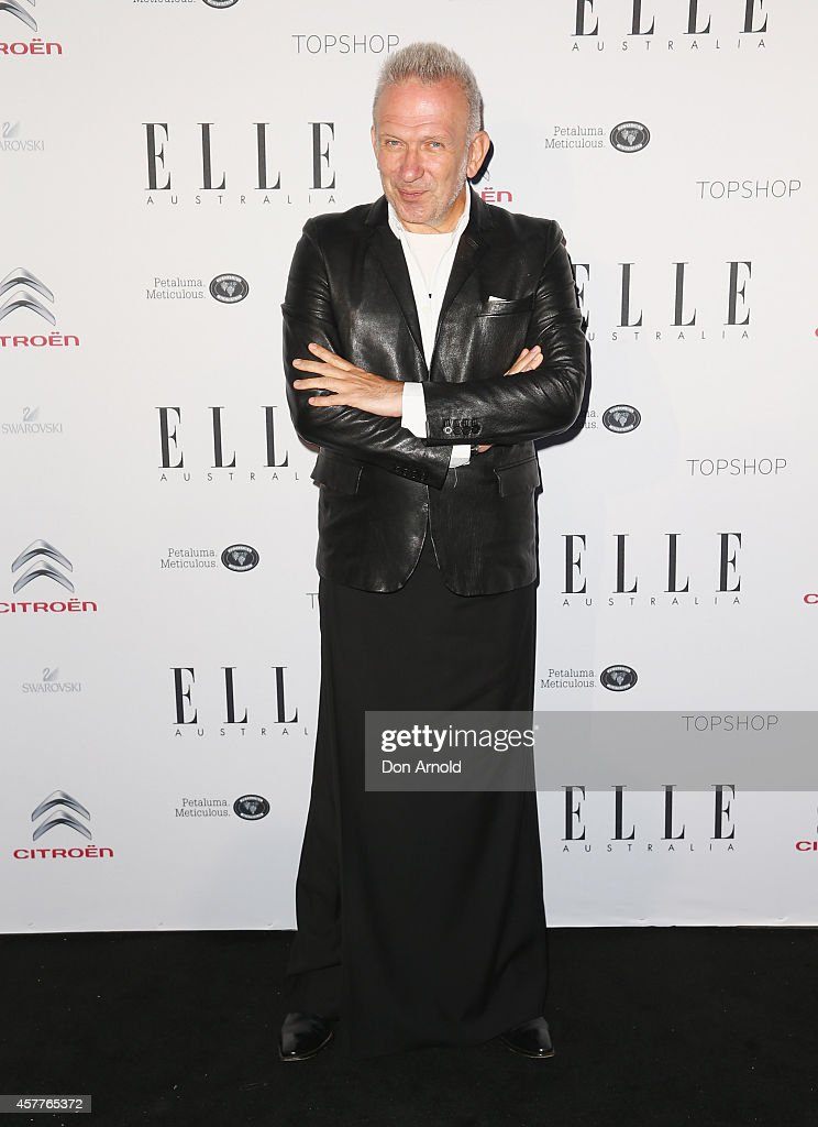 Jean Paul Gaultier arrives at Elle Style Awards 2014 at on October 24, 2014 in Sydney, Australia.