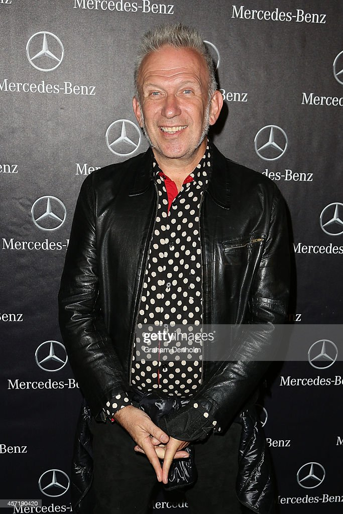Jean Paul Gaultier arrives at The Fashion World of Jean Paul Gaultier Exclusive Preview at NGV International on October 14, 2014 in Melbourne, Australia.