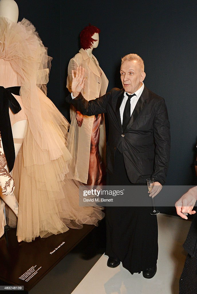 Jean Paul Gaultier attends an exclusive reception for 'The Fashion World of Jean Paul Gaultier From the Sidewalk to the Catwalk' showing at the...