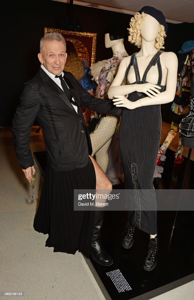 Jean Paul Gaultier attends an exclusive reception for 'The Fashion World of Jean Paul Gaultier: From the Sidewalk to the Catwalk', showing at the Barbican Art Gallery from 9 April - 25 August 2014, held on April 7, 2014 in London, England.