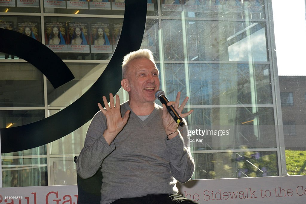 Jean Paul Gaultier attends the 'Planete Mode' Exhibition Launch by Jean-Paul Gaultier at Kunsthal Museum on February 8, 2013, in Rotterdam, Netherlands.