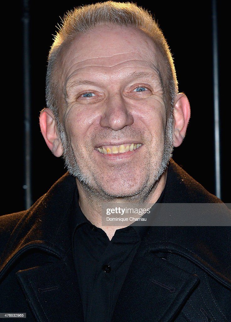 <a gi-track='captionPersonalityLinkClicked' href=/galleries/search?phrase=Jean+Paul+Gaultier+-+Modedesigner&family=editorial&specificpeople=4310036 ng-click='$event.stopPropagation()'>Jean Paul Gaultier</a> attends the Saint Laurent show as part of the Paris Fashion Week Womenswear Fall/Winter 2014-2015 on March 3, 2014 in Paris, France.