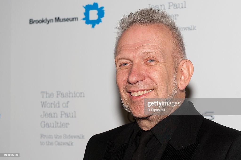 Jean Paul Gaultier attends the VIP reception and viewing for The Fashion World of Jean Paul Gaultier: From the Sidewalk to the Catwalk at the Brooklyn Museum on October 23, 2013 in the Brooklyn borough of New York City.