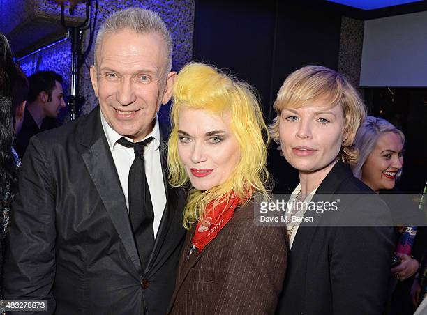 Jean Paul Gaultier Pam Hogg and Flora Starkey attend an exclusive reception for 'The Fashion World of Jean Paul Gaultier From the Sidewalk to the...