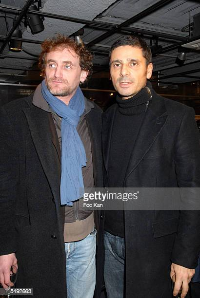 Jean Paul Rouve and Pascal Elbe attends the Concept Store 66 Champs Elysees Opening Party on December 11 2007 in Paris France