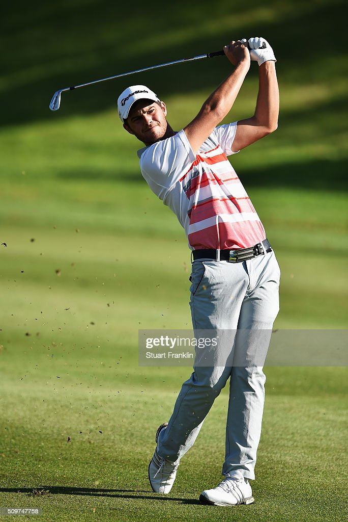 Jean - Paul Strydom of South Africa plays a shot during the second round of the Tshwane Open at Pretoria Country Club on February 12, 2016 in Pretoria, South Africa.