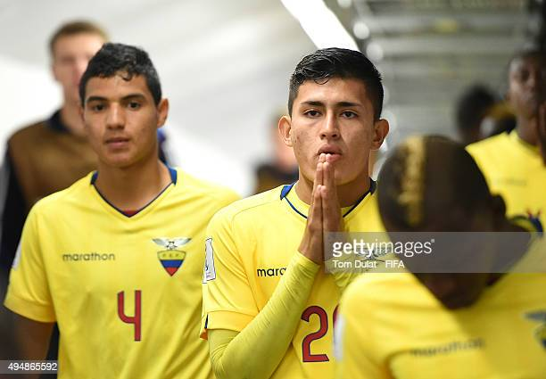 Jean Pena of Ecuador looks on during the FIFA U17 World Cup Chile 2015 Round of 16 match between Russia and Ecuador at Estadio Municipal de...