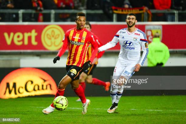 Jean Philippe GBAMIN / Rachid GHEZZAL Lens / Lyon 21eme journee Ligue 1 Photo Dave Winter / Icon Sport