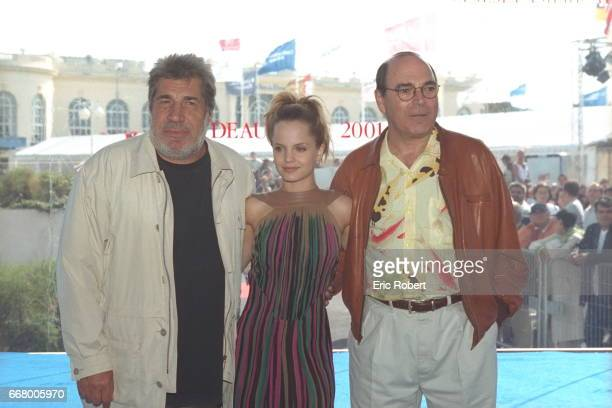 Jean Pierre Castaldi Mena Suvari and the film's director Peter Hyams during the photo call for 'The Musketeer'