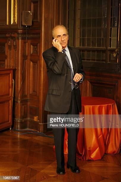 Jean Pierre Elkabbach chairman of Europe 1 and TV channel public senate in Paris France on January 11 2007