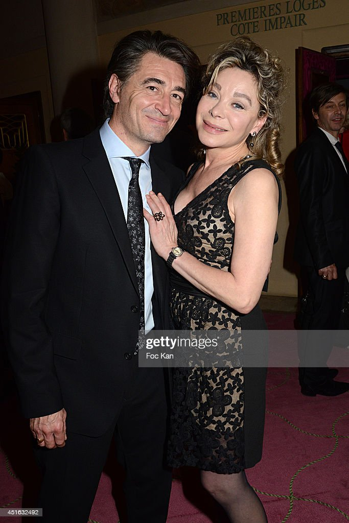 Jean Pierre Jacquin and Grace de Capitani attend the '20th Amnesty International France' : Gala At Theatre Des champs Elysees on July 2, 2014 in Paris, France.