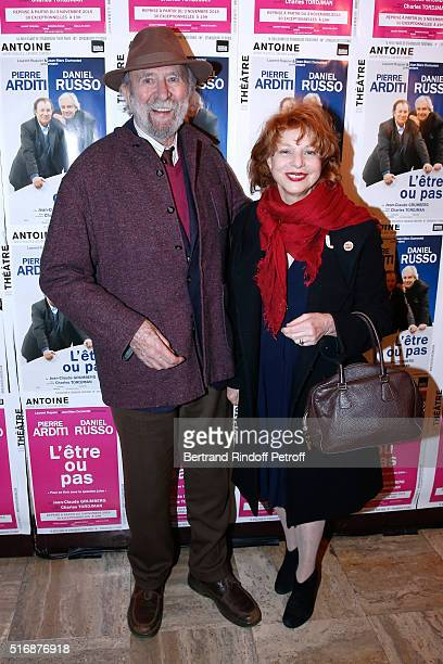 Jean Pierre Marielle and his wife Agathe Natanson attend the 'L'Etre ou pas' Theater play at Theatre Antoine on March 21 2016 in Paris France