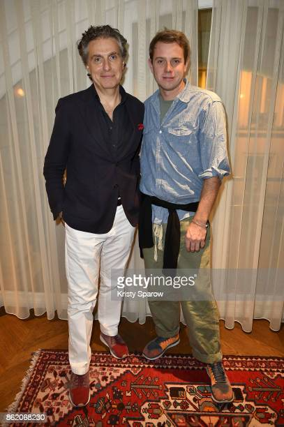 Jean Pierre Marois and Jonathan Anderson attend the Surface Magazine Fall Fashion Issue 2017 Presentation on October 16 2017 in Paris France