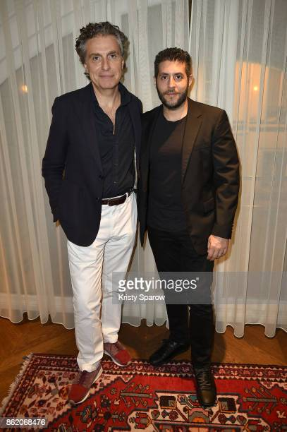 Jean Pierre Marois and Marc Lotenberg attend the Surface Magazine Fall Fashion Issue 2017 Presentation on October 16 2017 in Paris France