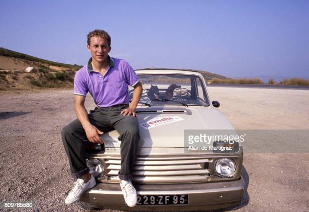 Jean Pierre Papin of Olympique de Marseille during a photoshoot on October 4 1988 in Marseille France