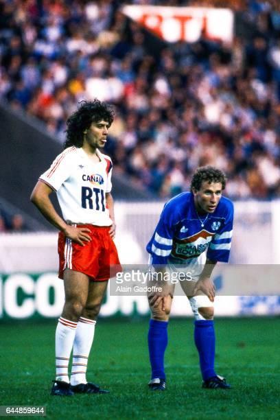 Jean Pierre Papin / Thierry Bacconnier Paris Saint Germain / Marseille Division 1 Photo Alain Gadoffre / Icon Sport