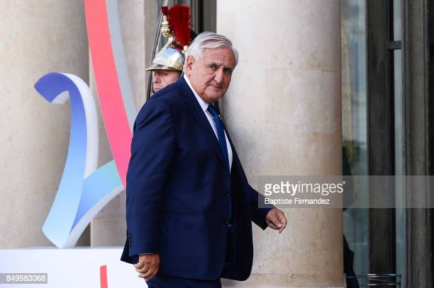 Jean Pierre Raffarin during the reception of the CIO by the French President at Elysee Palais on September 15 2017 in Paris France