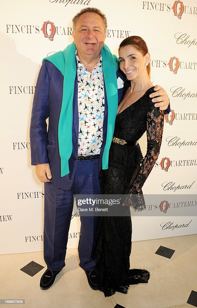 Jean Pigozzi (L) and Clotilde, Princess of Venice and Piedmont attend the annual Finch's Quarterly Review Filmmakers Dinner hosted by Charles Finch, Caroline Scheufele and Nick Foulkes at Hotel Du Cap Eden Roc on May 17, 2013 in Antibes, France.