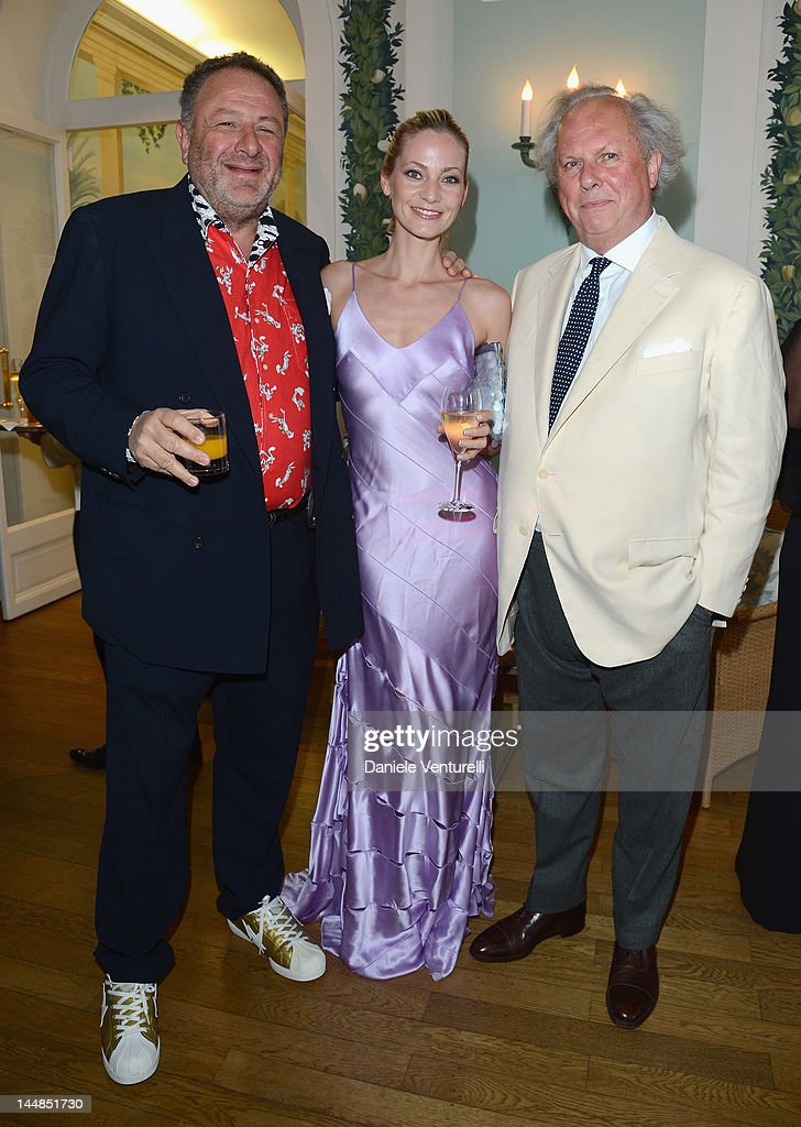Jean Pigozzi (L) and Editor of Vanity Fair Graydon Carter (R) attend the Vanity Fair and Gucci Party at Hotel Du Cap during 65th Annual Cannes Film Festival on May 19, 2012 in Antibes, France.